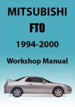 Mitsubishi FTO Workshop Manual